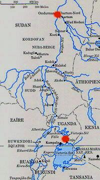 Karte ägypten Nil.Die Nilquellen